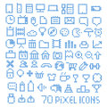 70 pixel web icons Stock Photos