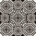 70's wallpaper pattern Royalty Free Stock Images
