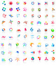 72 colorful vector icons: (set 1) Stock Photo