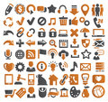 72 web icons Stock Photo