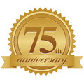 75th Anniversary Seal Royalty Free Stock Image