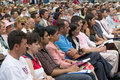 76 new American citizens Stock Photo