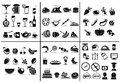 77 food and drink icons set Royalty Free Stock Images
