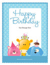 8.5x11 birthday flyer/poster template Stock Photos
