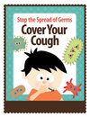 8.5x11 Flyer (Cover Your Cough) Stock Photos
