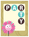 8.5x11 Party Flyer/Poster Template Stock Image