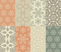 8  Seamless Winter Patterns Stock Photo