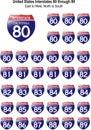 80 89 соединенных положений interstates Стоковая Фотография RF