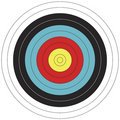 80 cm FITA design Archery Target Royalty Free Stock Photo