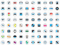 80 vector logos and elements Stock Photos