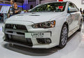 83rd Geneva Motorshow 2013 - Mitsubishi Lancer Evolution Royalty Free Stock Image