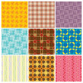 9 different seamless pattern Royalty Free Stock Photography