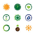 9 eco icons Royalty Free Stock Photos