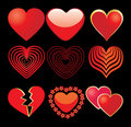 9 hearts Stock Photos