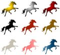 9 Horse Stallions Clip Art Stock Photo