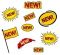 9 New Web Icons or Buttons Royalty Free Stock Photo