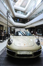 911 carreras show in shopping mall Royalty Free Stock Photos