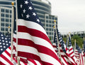 911 Day United States Patriotic Memorial Flags Royalty Free Stock Image