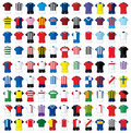 99 football shirts Stock Photo