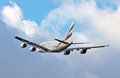A380 Airbus in flight Stock Images