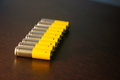 Aa batteries close up of some Royalty Free Stock Image