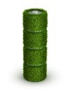 Aa battery from grass with cells green energy concept Royalty Free Stock Images