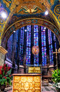 The Aachen Cathedral, Germany. The Aachen chapel was the church of coronation for thirty German kings and twelve queens. Royalty Free Stock Photo