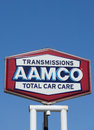 Aamco transmissions repair facility pasadena ca usa june sign is an american transmission franchise Royalty Free Stock Photography