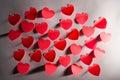 Aantal harten Valentine´s Stock Foto's