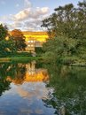 Aarhus park - golden evening Royalty Free Stock Photo