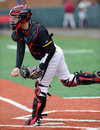 Aaron Etchison - college baseball catcher Stock Images
