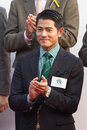 Aaron Kwok attended Kent & Curwen Centenary Sprint Cup Royalty Free Stock Photo