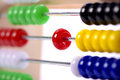 Abacus as help for calculation Royalty Free Stock Photo