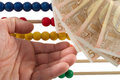 Abacus beads with euro european money Stock Image
