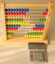 Abacus and Calculator Stock Photos