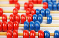 Abacus closeup of a blue and red Stock Photography