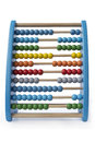 Abacus colorful isolated on white Royalty Free Stock Image