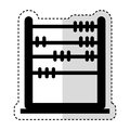 Abacus education isolated icon