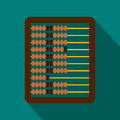Abacus icon in flat style