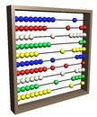 Abacus illustration of an isolated Royalty Free Stock Photos