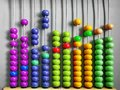 Abacus for Kids Practicing Counting with Colorful Wooden Beads Royalty Free Stock Photo