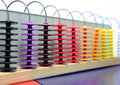 Abacus picture of a old colourful Royalty Free Stock Photography