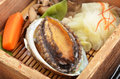 Abalone with vegetable on the dinner table Stock Photography