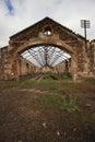 Abandon cooper mine in mina de s domingos alentejo portugal Royalty Free Stock Photo