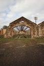 Abandon cooper mine in mina de s domingos alentejo portugal Royalty Free Stock Photos