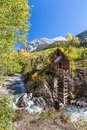 Abandon crystal mill in colorado mountain falls Royalty Free Stock Photos