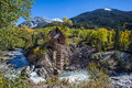 Abandon crystal mill in colorado mountain falls Stock Images