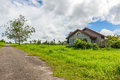 The abandon house in farmland Stock Photography