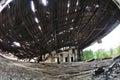 Abandon house ruins architecture fallen Stock Photography