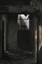 Abandon house ruins architecture fallen chair Royalty Free Stock Photos